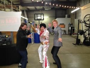 Brad Marc and Elvis posing